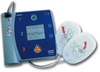 An AED (Automated External Defibrillator)